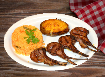 <h4>Grilled Lamb Chops</br> Costillas de Cordero Asada … $25</h4>