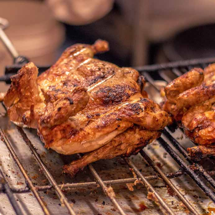 Wood charcoal Grilled Chicken