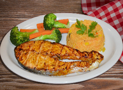 Grilled Salmon with vegetables - Salmon Asado… $16.00