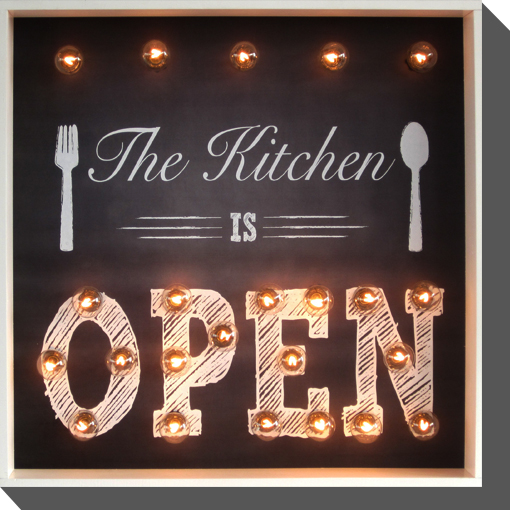 The Kitchen is open - see our hours of operation