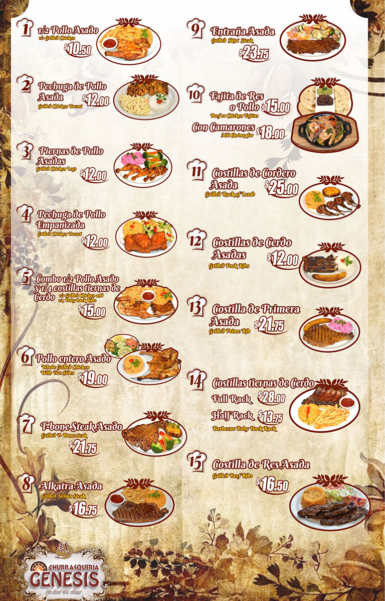 Menu Entrees Hot Entrees