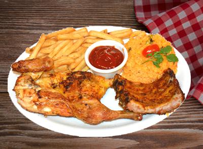 Grilled Chicken & Baby Back Ribs Combo - Pollo Asado con Costillas Tiernas de Cerdo Combo … $13.75