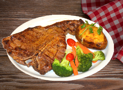 Grilled T-bone Steak - T-bone Steak Asado … $19.75